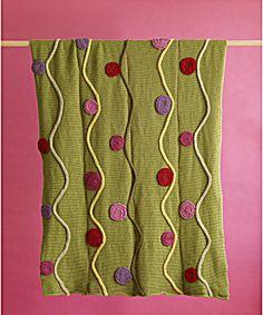 Free Crochet Pattern 60634AD Pop Art Afghan : Lion Brand Yarn Company