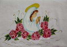Coisas da Nil - Pintura em tecido: Toalha da igreja.