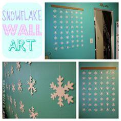 wall art, diy xmas, craft decor, christma decor, snowflak wall, snowflakes, snowflakeart3, christma craft, diy holiday