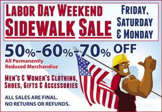 Brother's Labor Day Sidewalk Sale