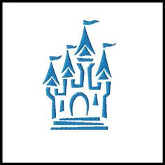 CASTLE fill embroidery fill design for quilts by stitchtastical, $3.50