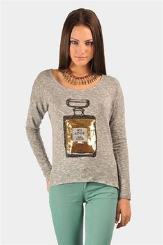 Number One Sparkle Sweater - Silver