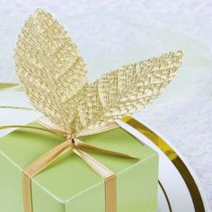 Gold Leaves Wedding Favor Accessory - Party City (4.99 for 30 leaves)