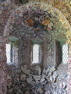 houses, shells, sea shell, architectur, courts, art, hampton court, mosaic, shell grotto