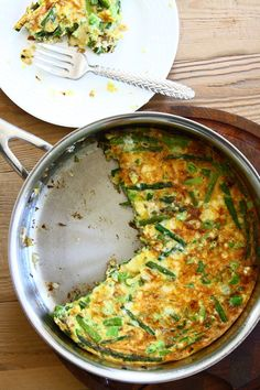 Spring Frittata with Asparagus, Caramelized Onions and Sharp Cheddar