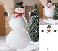 Top It Off Outdoor Snowman Body Stake