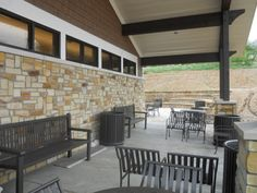 The Outdoor Library: The new Dubois Library in Dubois County, Indiana, includes two reading patios for use during warm weather months. Other library features include a children's area, genealogy room, meeting space, and computer area, an especially important amenity in a locality where most households do not have access to high-speed internet. http://udassoc.com