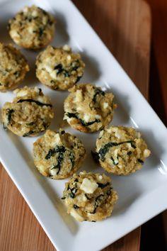 Spinach and Feta Quinoa Bites from @Agatha Yu Opasik's Kitchen #bevsbabyshower