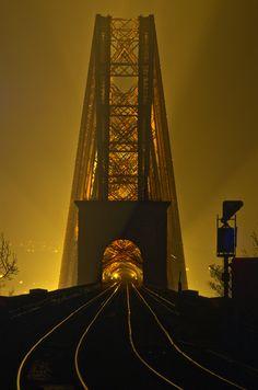 Foggy, Forth Bridge, Edinburgh, Scotland  photo via senerii