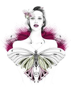 A Frivolous Butterfly | Design & Illustration by Georgie St Clair