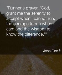 Runner prayers