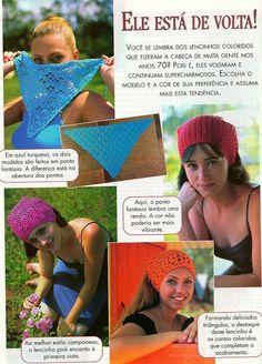 Patrones para Crochet: 5 Pañuelos de Cabeza de Pico Crochet