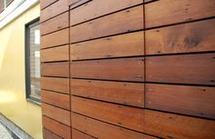 Great personality in the whorls and dings in this salvaged redwood siding. From the Lean Green blog.