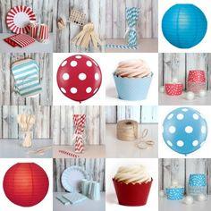 Red + Blue Party Supplies :: The TomKat Studio Shop