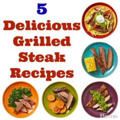 Add flavor to flank steak with these 5 delicious grilled dinner recipes. #BBQ