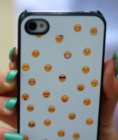 Show off your love of emoji with this emoji phone case.
