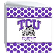 700 sticky notes in this crazy cute cube! Go TCU Horned Frogs!