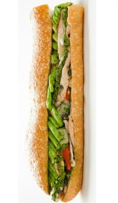 Sandwich of the Week: All About The Bread's Honey Chicken Lime Cilantro Sandwich.