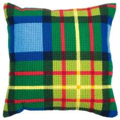 Cross stitch plaid! I should do both my mom & dad's families' tartans.