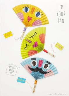 Summer Crafts for Kids | Printable Paper Fans | Mr Printables
