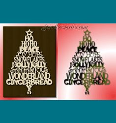 Scroll Saw Patterns :: Holidays :: Christmas :: Trees :: Tree of words ...