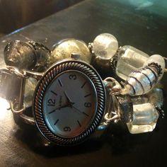 Hand beaded watch band