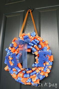 School Spirit Wreath