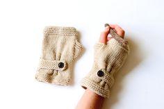 Autumn Finds/ Arm Warmer / Hand Knit Fingerless Gloves