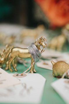 figurines // photo by Kate Miller Photography // http://ruffledblog.com/whimsical-illinois-barn-wedding
