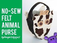 No Sew Felt Horse Purse by Jennifer Priest - YouTube