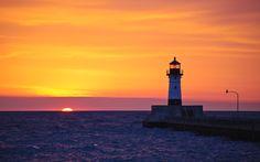 Sunrise over Lake Superior, Duluth MN
