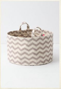 make this! #DIY #chevron #storage bin