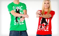 Groupon - $12 for a Gangnam Style Unisex T-Shirt in S–XL in Green, Light Blue, Red, or Gray ($28 List Price). Free Returns.  in Online Deal. Groupon deal price: $12.0.00
