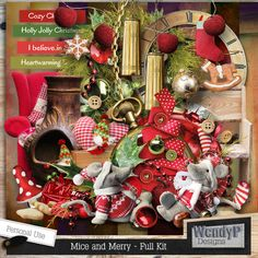 Mice and Merry by #WendyPDesigns #christmasinjuly #theStudio #digitalscrapbooking