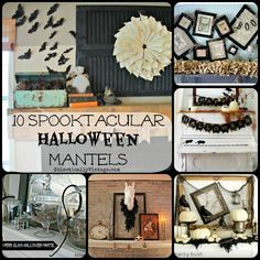 10 Halloween Mantel ideas - these all have a fun vintage twist!  eclecticallyvintage.com
