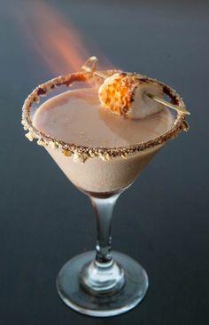 Flaming Smores Martini by EclecticRecipes.com #recipe