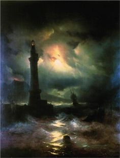 """Neapolitan Lighthouse"" ~ Aivazovsky"