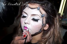 How To Do The Haunted Dolly - Halloween Costume - Halloween Makeup - Dollface - Doll