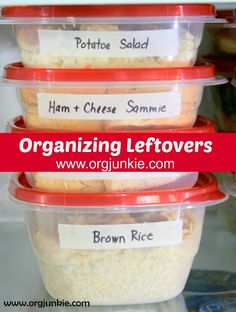 Organizing Leftovers from I'm an Organizing Junkie