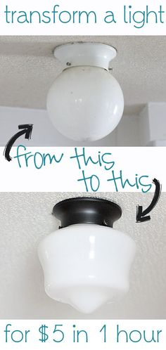 Transform a builder light to a school house style light