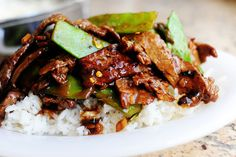 Beef with Snow Peas  by Ree Drummond, Pioneer Woman