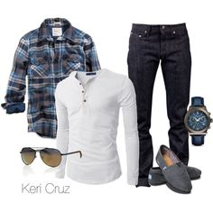 Men's Fashion, created by keri-cruz on Polyvore mens casual outfit, casual mens outfits, kericruz, tom shoes, casual men outfit, polyvore men