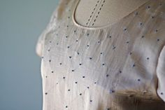 French Knot Blouse #sewing #embroidery #frenchknots