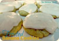 Six Sisters Frosted Banana Cookies are a great way to use up those ripe bananas!! Very moist cookies and the frosting is to die for!
