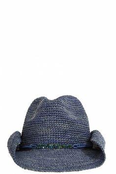 Blue cowboy beach hat