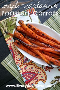 Weight Watchers Maple Glazed Carrots with Cardamom  2 Points Plus Per Serving  #weightwatchers #vegan #carrots