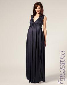 so cute - Maternity Grecian Jersey Maxi Dress