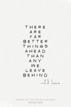 So look ahead, love.