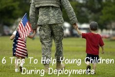 """""""6 tips to help young children during military deployments"""" Some great & easy ideas to help your own children - MilitaryAvenue.com"""
