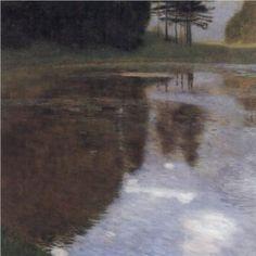 Quiet pond in the park of Appeal - Gustav Klimt